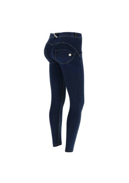 WR.UP® 7/8 Sötétkék farmer sárga varrással, superskinny